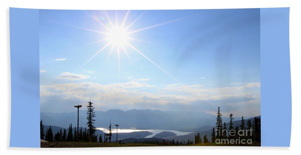 Sunburst Over Lake Dillon Beach Towel