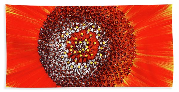 Sunflower Close Beach Towel