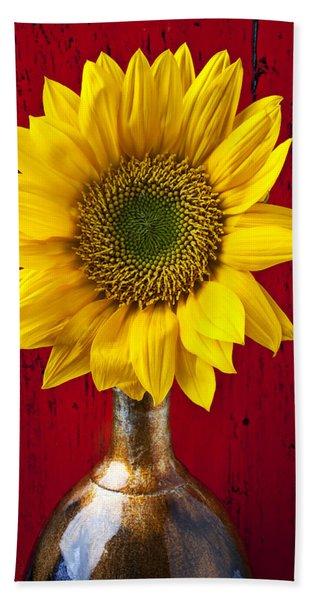 Sunflower Close Up Beach Towel