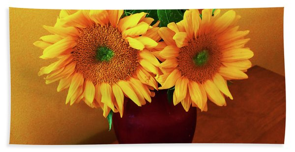 Sunflower Corner Beach Towel