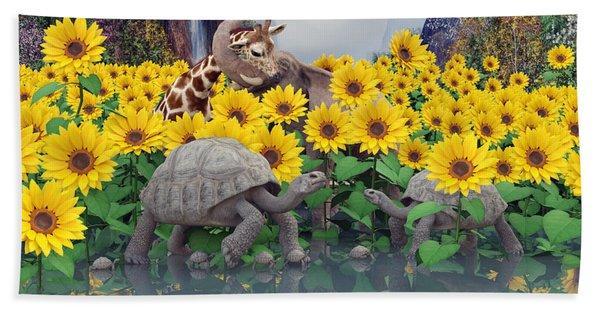 Sunflower Daydream  Beach Towel