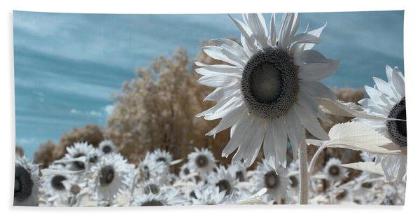 Sunflower Infrared  Beach Towel