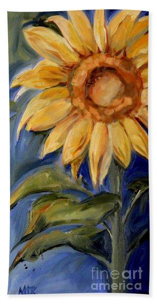 Sunflower Oil Painting Beach Towel
