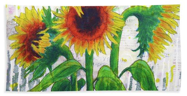 Sunflower Sonata Beach Towel