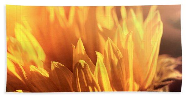 Sunflower To The Sky Beach Towel