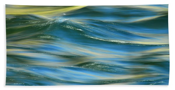 Sunlight Over The River Beach Towel