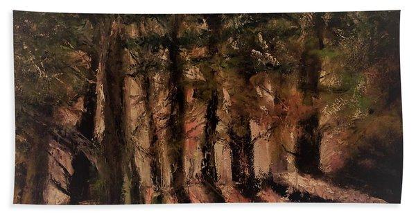 Sunlit Forest Beach Sheet