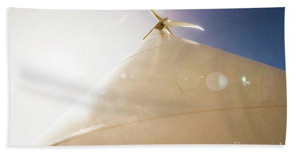 Sunlit Wind Power Beach Towel
