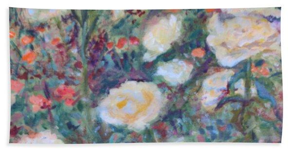 Sunny Day At The Rose Garden Beach Sheet