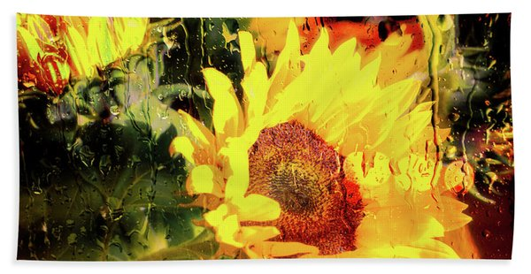 Beach Towel featuring the photograph Sunny With Showers by Michael Hope