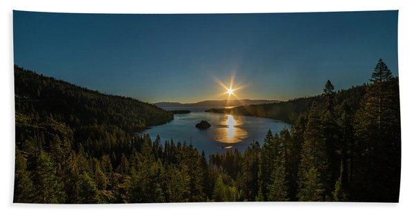 Sunrise At Emerald Bay Beach Towel