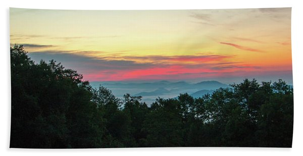 Sunrise From Maggie Valley August 16 2015 Beach Towel