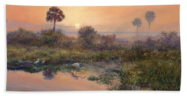 Sunrise Okeechobee Breakfast Club  Beach Towel