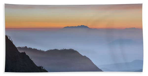 Sunrise Over Bromo National Park - Java Beach Towel