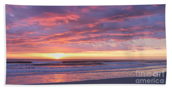 Sunrise Pinks Beach Towel