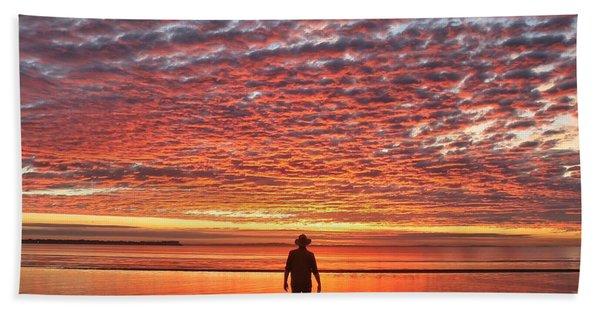 Sunrise Silhouette Beach Towel