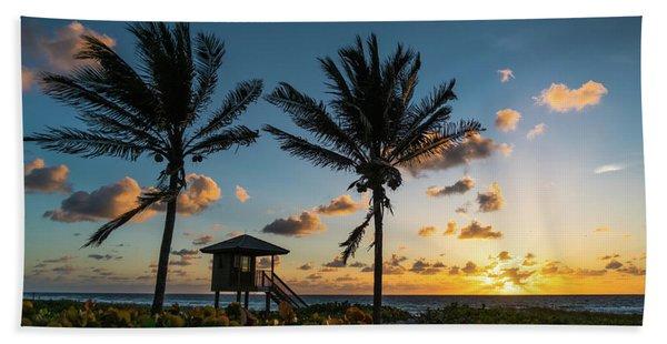 Sunrise Sunburst Palms Delray Beach Florida Beach Towel