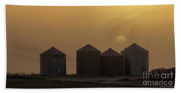 Sunrise Through The Fog Beach Towel