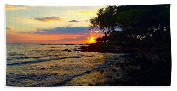 Sunset At A-bay Beach Towel