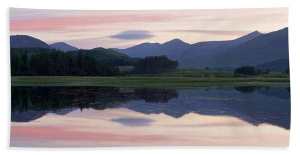 Sunset At Loch Tulla Beach Sheet