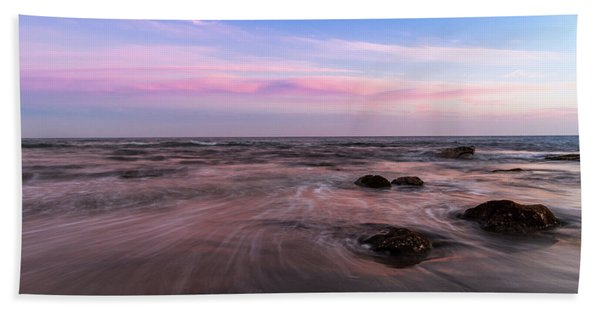 Sunset At The Atlantic Beach Towel