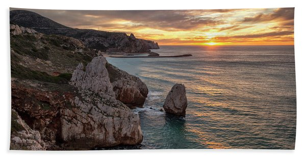 Sunset At The Nest Of The Eagle Beach Towel