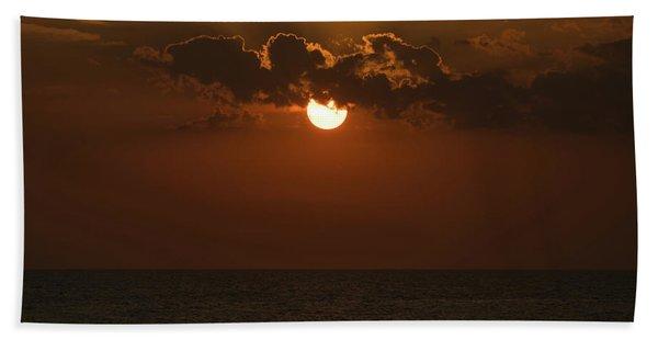 Sunset Gold Cloud Venice Florida Beach Towel