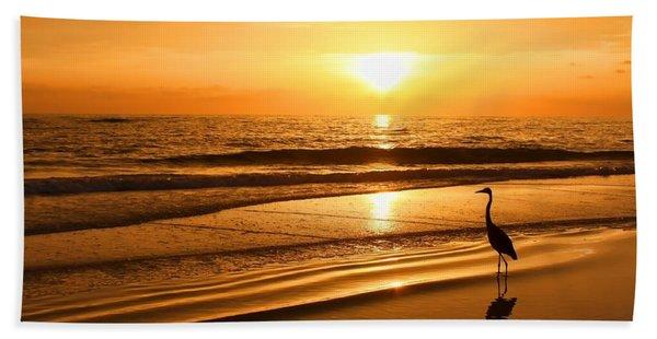 Sunset Gold Beach Towel