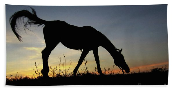 Sunset Horse Beach Towel