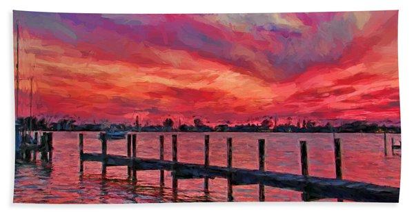 Sunset Impressionism Beach Towel
