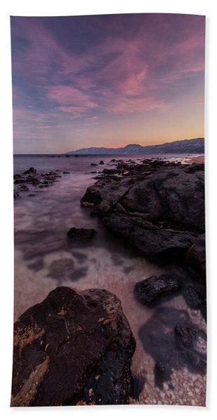 Sunset In Cala Gonone Beach Towel