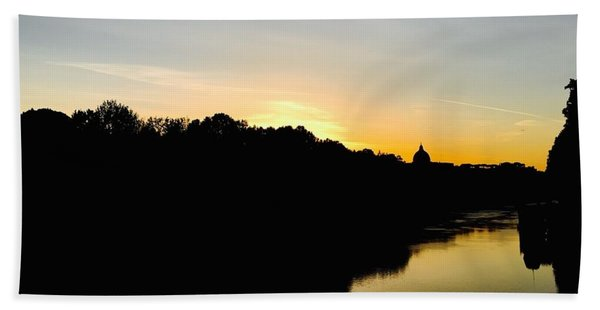 Sunset In Rome Beach Towel