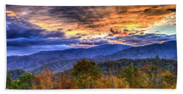 Sunset In The Smokies Beach Towel