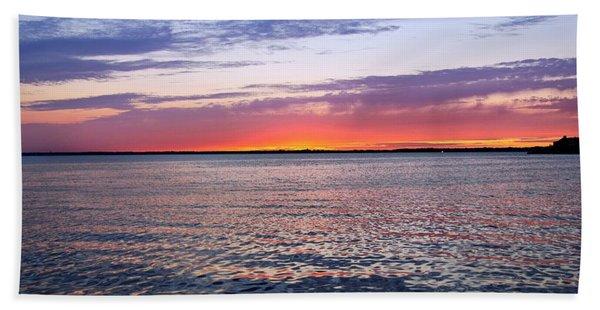 Sunset On Barnegat Bay I - Jersey Shore Beach Towel