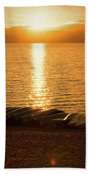 Sunset On Quinault Beach Towel