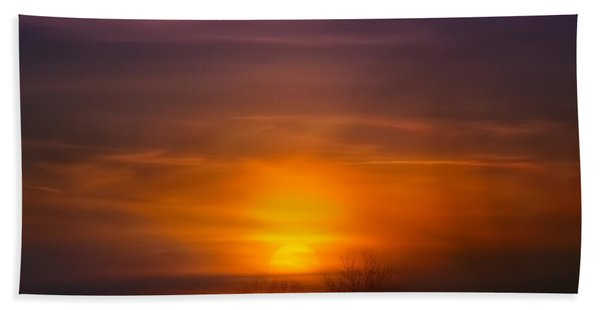 Sunset Over Scuppernong Springs Beach Towel