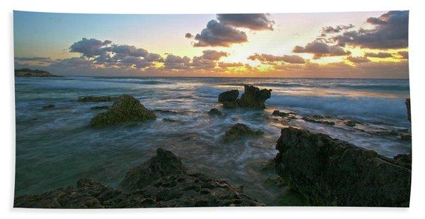 Sunset Seas Beach Towel