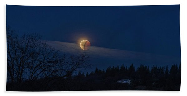 Super Blood Moon Beach Towel