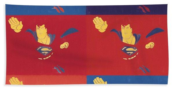 Superman Pop Art Panels Beach Towel