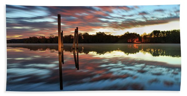 Symetry On The River Beach Towel