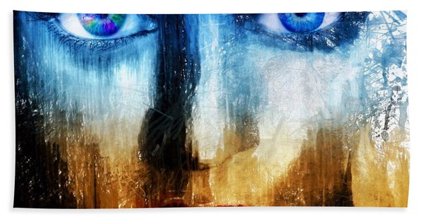 Beach Towel featuring the painting Synaptic Awakening by Mark Taylor