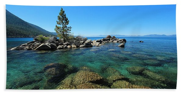 Beach Towel featuring the photograph Tahoe Northern Island  by Sean Sarsfield
