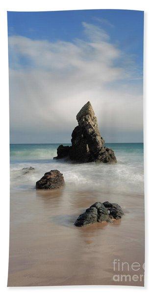 Tall And Proud On Sango Bay Beach Sheet