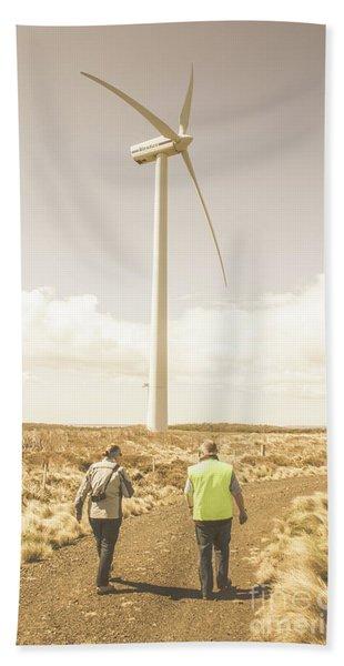 Tasmania Turbine Tours Beach Towel