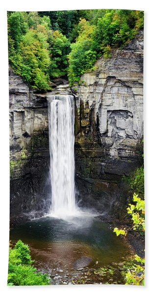 Taughannock Falls View From The Top Beach Towel