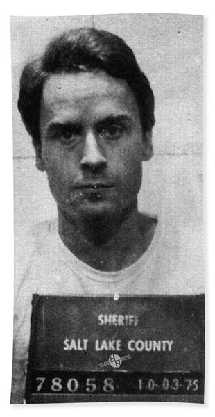 Ted Bundy Mug Shot 1975 Vertical  Beach Towel