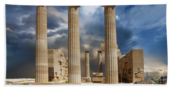 Temple Of Athena Beach Towel