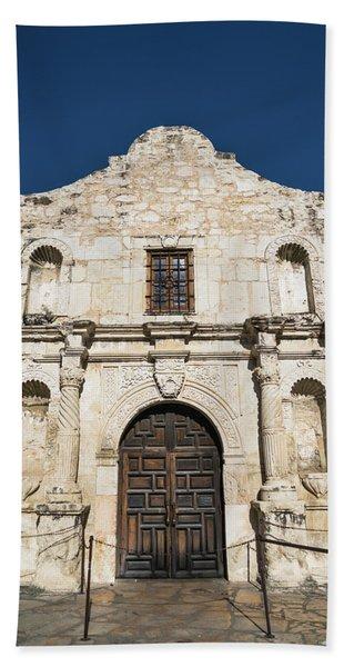 The Alamo Entrance San Antonio Texas Beach Towel
