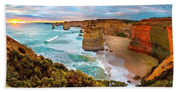 The Apostles Sunset Beach Towel