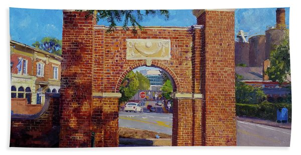 The Arch At The Corner Beach Towel